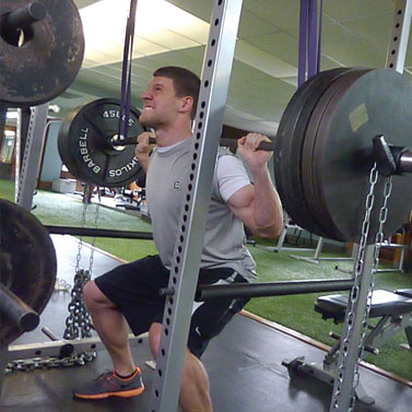 male lifting weights